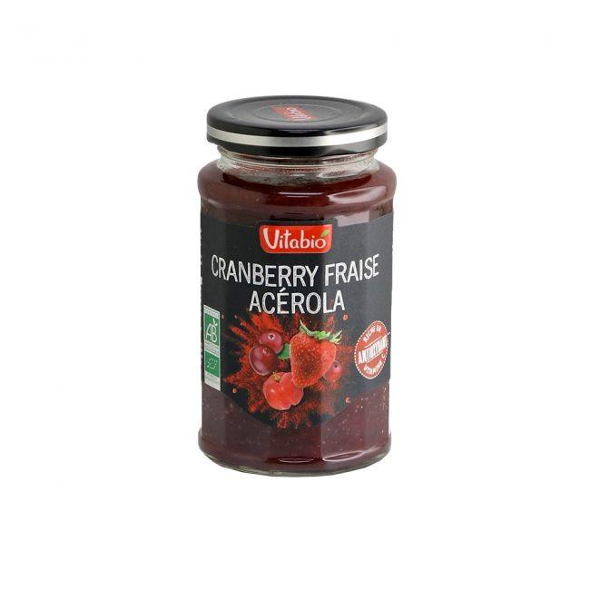 Vitabio Organic Superfruit Spread Cranberry Strawberry Acerola, 290g