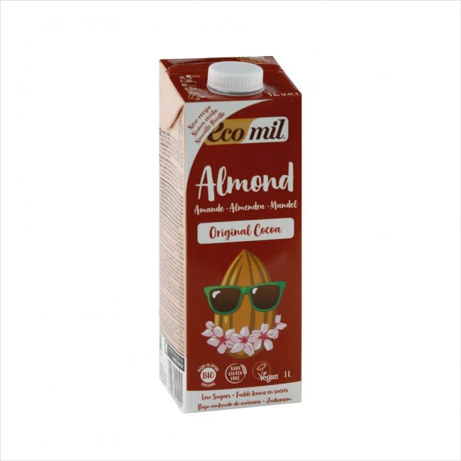 Ecomil Organic Almond Milk Agave Cocoa, 1L