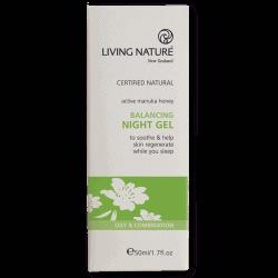 Box of Living Nature Balancing Night Gel (50ml)