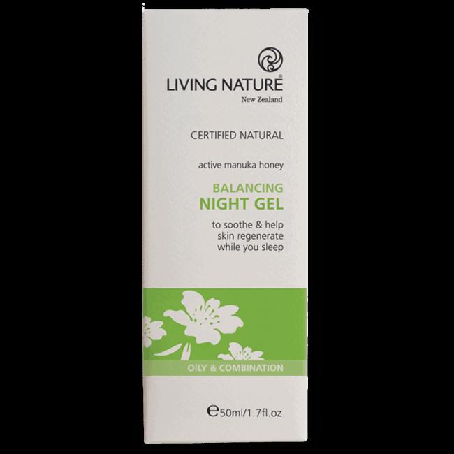 Living Nature Balancing Night Gel, 50ml