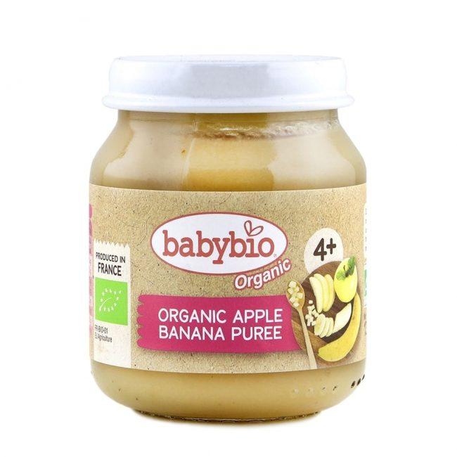 Babybio Organic Apple Banana Puree, 130g