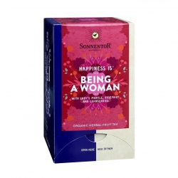 "Front View of Sonnentor ""Happiness is... Being a Woman"" tea blend package"