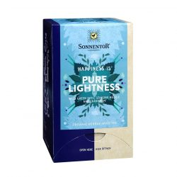 "Front view of Sonnentor ""Happiness is... Pure lightness"" Tea Blend Package"