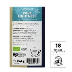 "Back view of Sonnentor ""Happiness is... Pure lightness"" Tea Blend Package"