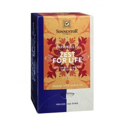 "Front view of Sonnentor Sonnentor ""Happiness is... Zest for Life"" Tea Blend Package"
