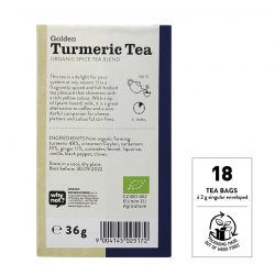 Back view of Sonnentor Organic Golden Turmeric Tea Blend Package