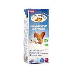 Carton of La Mandorle Organic Almond Milk With Vanilla, 200ml