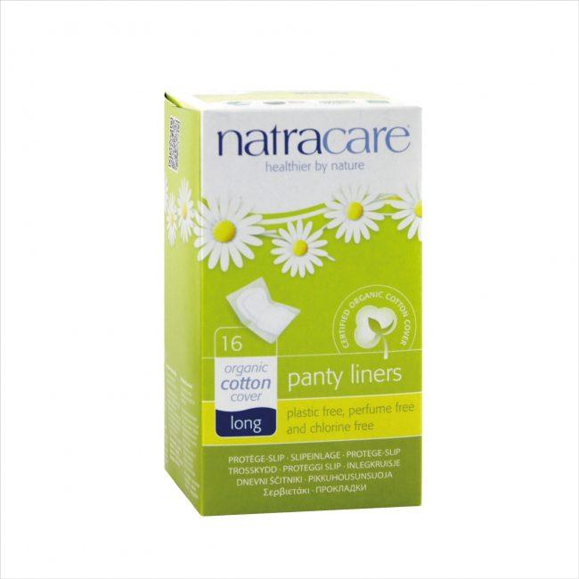 Natracare Natural Panty Liners Long, 16 pcs