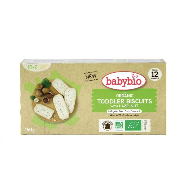 Babybio Organic Hazelnut Biscuits for Toddlers, 160g