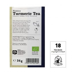 Back view of Sonnentor Organic Flowery Turmeric Tea Blend Package