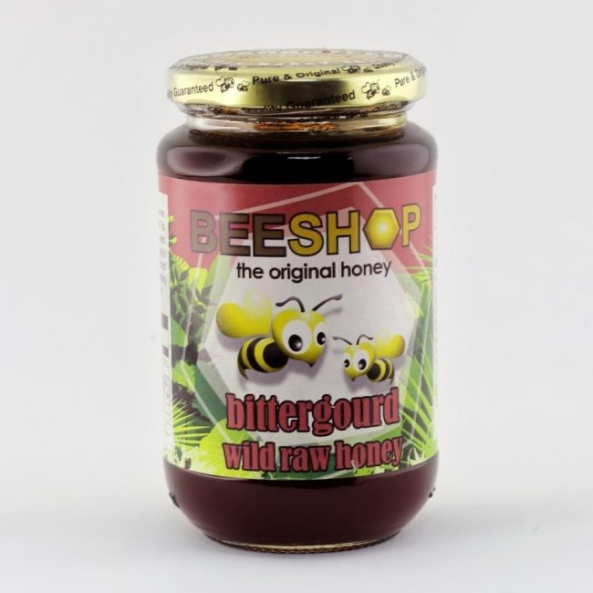 Beeshop Bittergourd Wild Raw Honey, 491g
