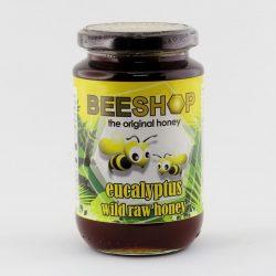Jar of Beeshop Eucalyptus Wild Raw Honey