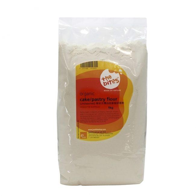 The Bites Organic Unbleached Cake Flour, 1kg