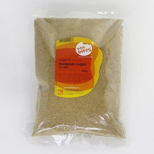 The Bites Organic Molasses Sugar, 500g
