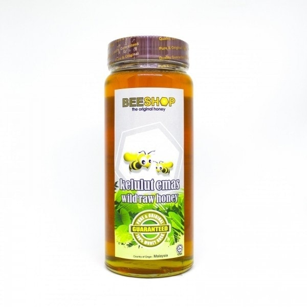 Beeshop Kelulut Emas Wild Raw Honey, 920g