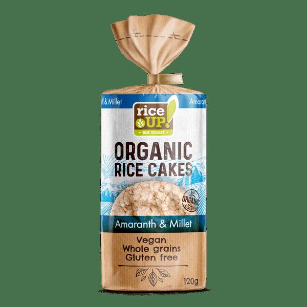 Rice Up Organic Rice Cakes Amaranth & Millet, 120g