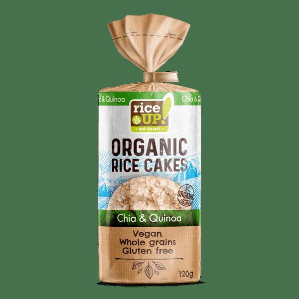Rice Up Organic Rice Cakes Chia & Quinoa, 120g