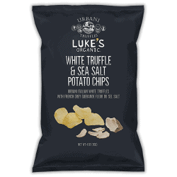 Packet of Luke's Organic Potato Chips - White Truffle, 113g