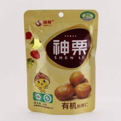 Front view of Packet of Shen Li Chestnuts, 80gm
