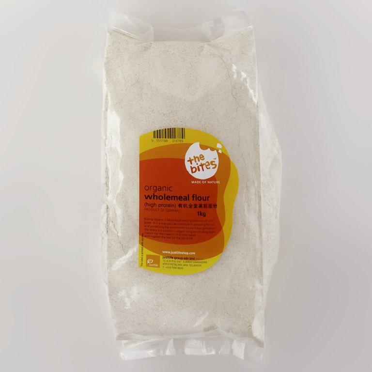 The Bites Organic Wholemeal High Protein Flour (Germany), 1kg
