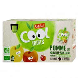 Box of Vitabio Organic Apple Cool Fruits Juice, 12x90g