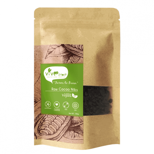 Vive Raw Cacao Nibs, 100g