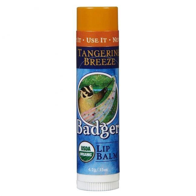 Badger Organic Lip Balm Tangerine Breeze, 0.15oz