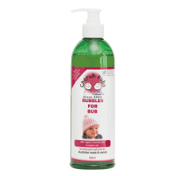 Bottle of Cherub Rubs - Bubbles for Bub (Body Wash), 500ml