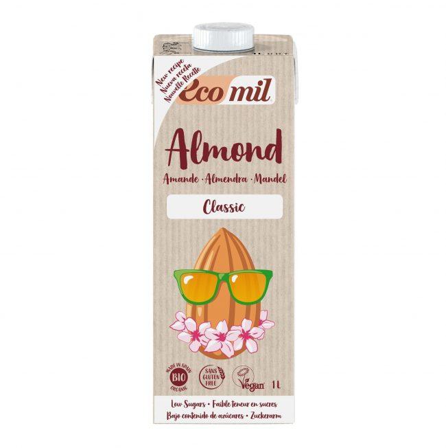 Ecomil Organic Almond Milk Classic, 1L
