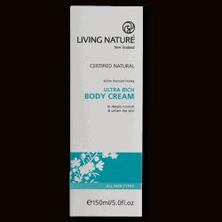 Box of Living Nature Organic Ultra Rich Body Cream, 150ml