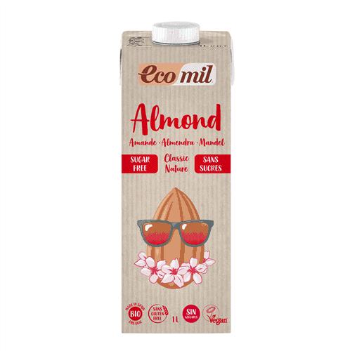 Ecomil Organic Almond Milk Classic Sugar Free, 1L