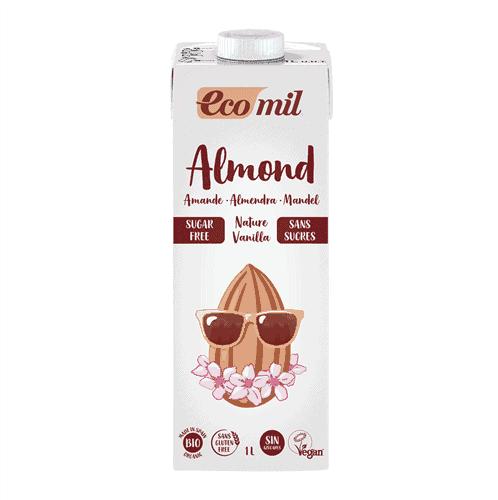 Ecomil Organic Almond Milk Sugar Free Vanilla, 1L