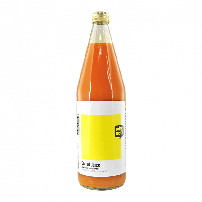 Why Not?® Organic Carrot Juice (Demeter), 750ml