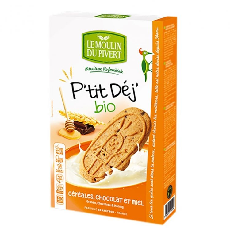 Le Moulin Organic P'tit Cereal & Chocolate Honey Dunking Biscuit, 190g