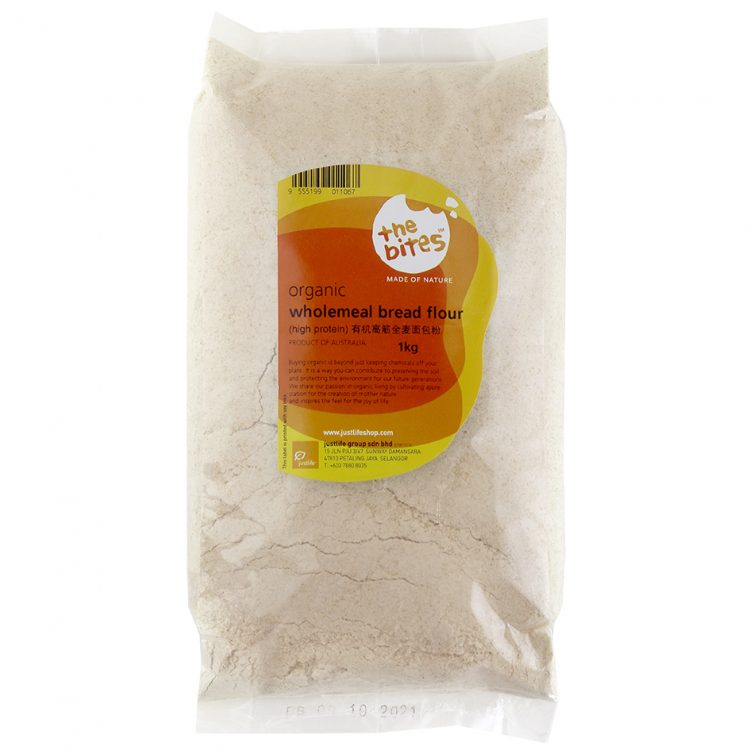 The Bites Organic Wholemeal High Protein Flour (Australia), 1kg