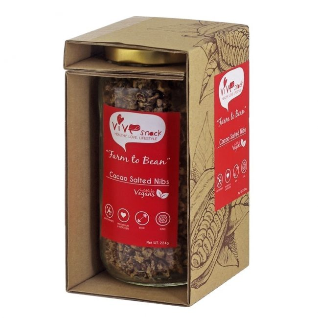 Vive Cacao Salted Nibs, 224g
