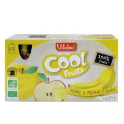 Carton box with apple and banana art