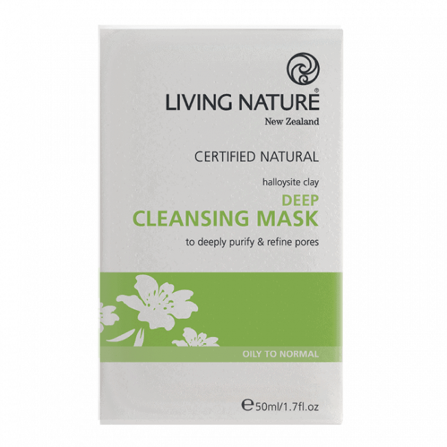 Living Nature Deep Cleansing Mask, 10 x 5ml
