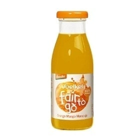 Voelkel Organic Fair To Go Juice Orange Mango Passionfruit (Demeter), 250ml