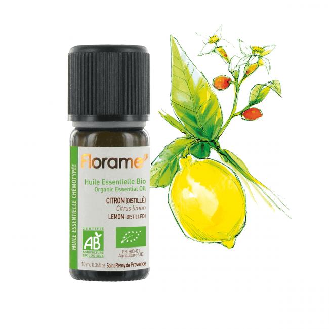 Florame Distilled Lemon ORG Essential Oil, 10ml