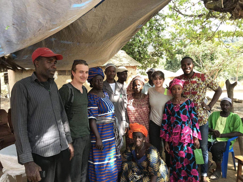 Emile Noel Guinea team visiting a village