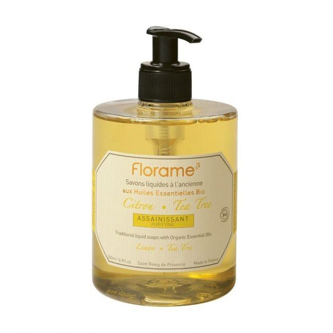 Florame Lemon-Tea Tree Liquid Soap, 500ml