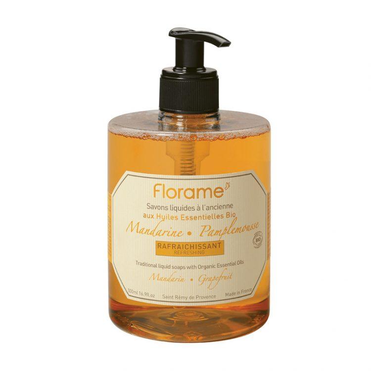 Florame Mandarin-Grapefruit Liquid Soap, 500ml