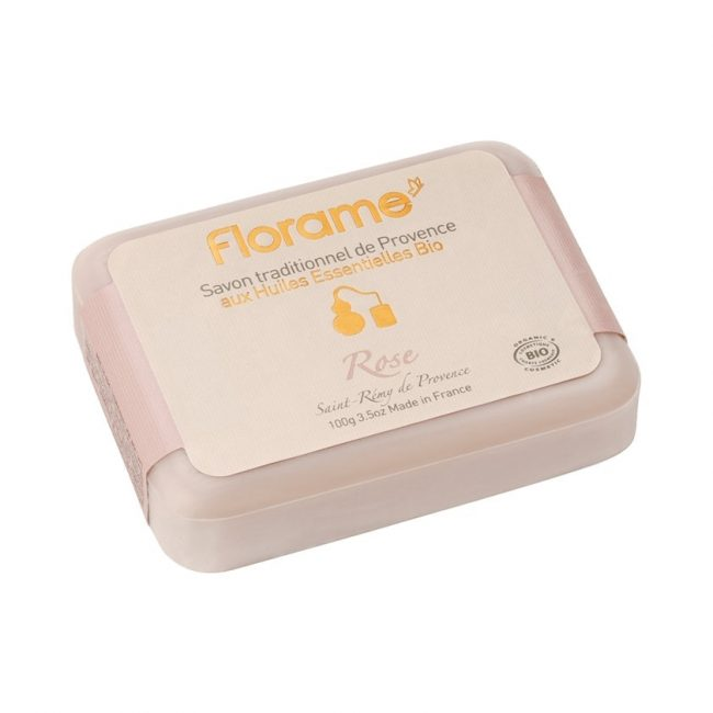 Florame Rose Traditional Soap, 100g
