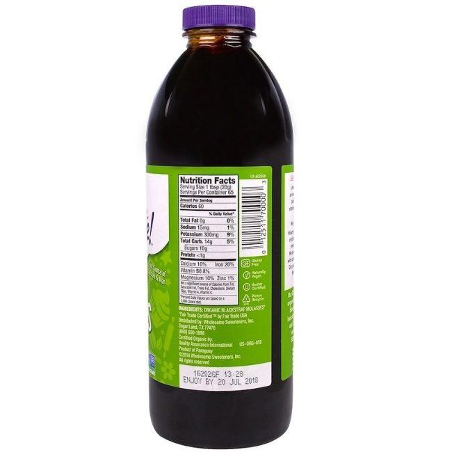 Wholesome Organic Blackstrap Molasses, 944ml