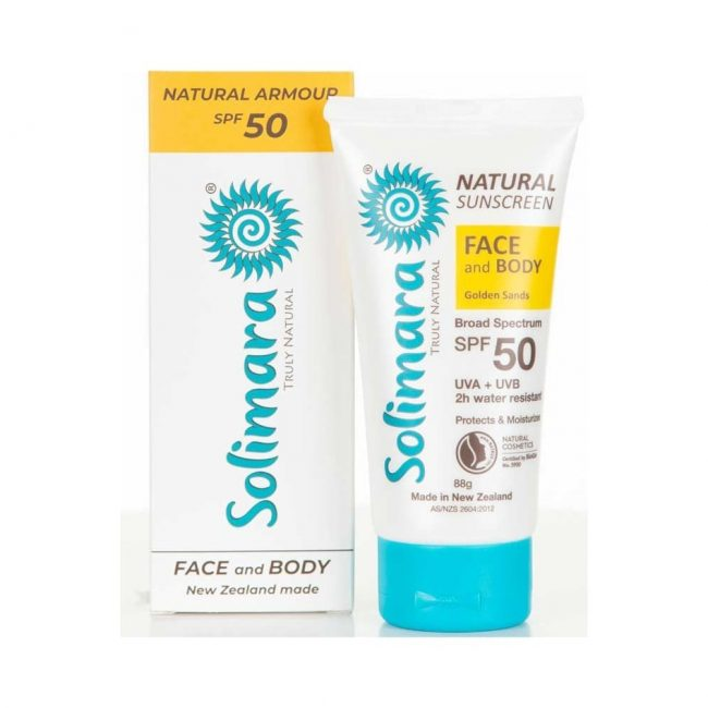 Solimara SPF 50 Mineral Sunscreen Golden Sands