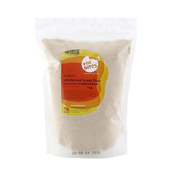The Bites Organic Wholemeal High Protein Bread Flour (Aus), 750g