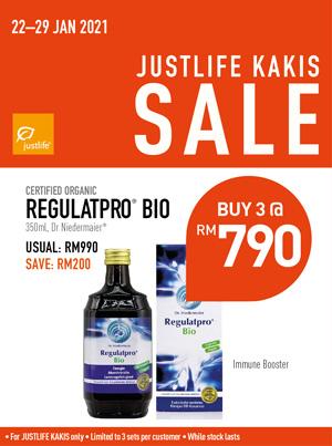 Regulatpro Justlfe Kaki Sale Bundle Promo
