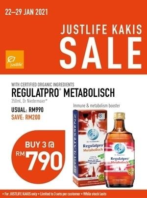 Justlife Kaki Sales Regulatpro Metabolisch Bundle Promo