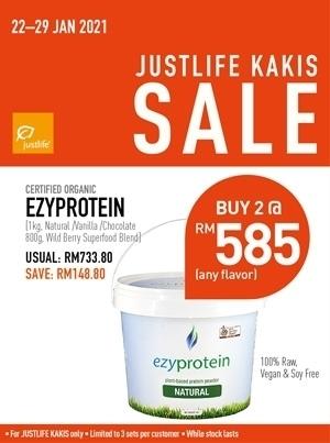 Justlife Kaki Sales Ezyprotein Bundle Promo